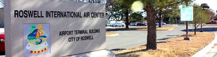 Roswell Air Center Stone Sign